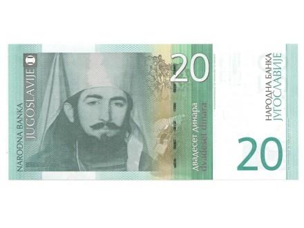 20 dinara 2000 UNC
