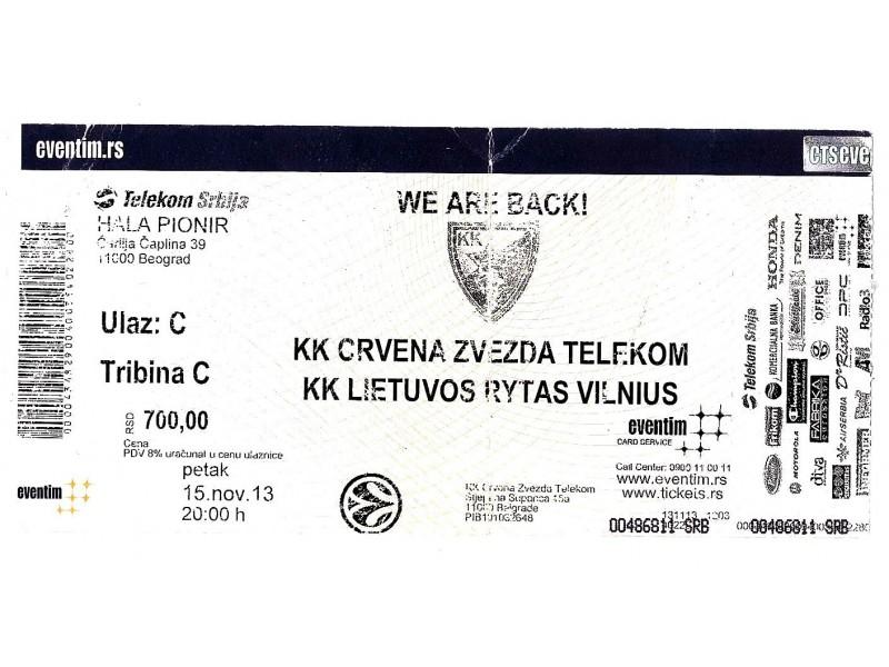 2013, CRVENA ZVEZDA - LIETUVOS RYTAS !