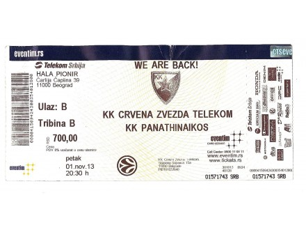 2013, CRVENA ZVEZDA - PANATHINAIKOS !