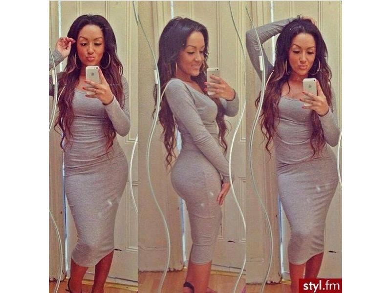 21)  Siva pamucna haljina (VISE RAZNIH BOJA)