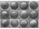 25 šilinga - 12 komada, 156 g srebro