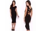 28)  Divna crna haljina sa trakama(vise boja)