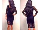 287) Crna cipkana haljina   VISE BOJA