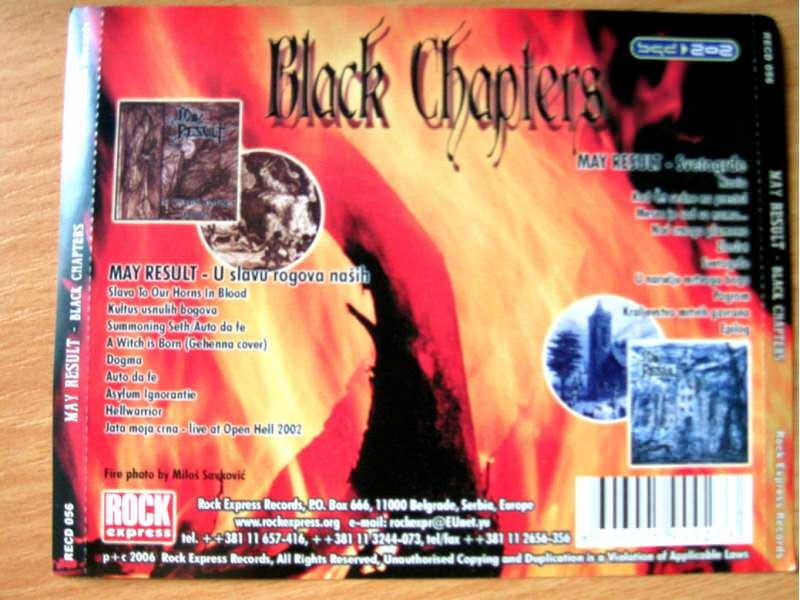 2CD May Result - Black Chapters