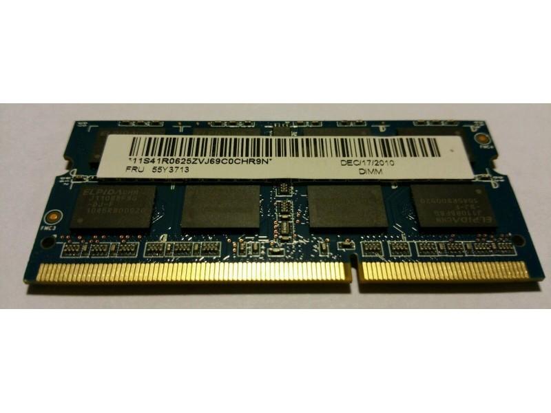 2GB DDR3 1333MHZ laptop ram memorija Elpida/Ramaxel
