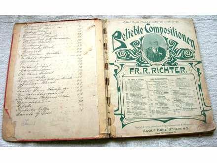 30-ak nemačkih notnih izdanja oko 1900. godine