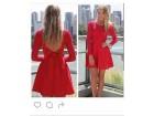 329) Crvena čipkana haljina VISE BOJA