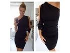 33)  Divna crna haljina (VISE BOJA  PAMUK - LIKRA)