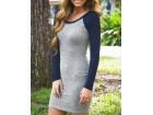 360) Prelepa dvobojna pamucna haljina
