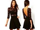 362) Prelepa čipkano pamučna haljina VISE BOJA
