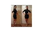 39) Crna elegantna haljina sa rukavima do lakata