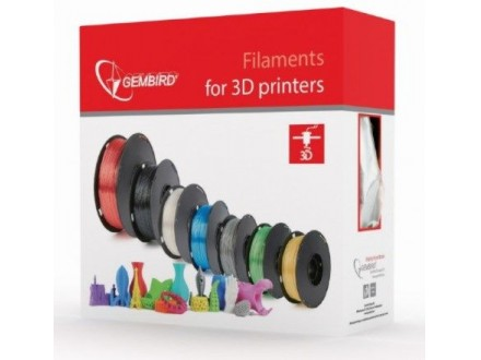 3DP-PETG1.75-01-R PETG Filament za 3D stampac 1.75mm, kotur 1KG RED