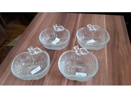 4 Staklene činijice prelepe R-13cm , H- 5,5cm