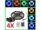 4 x RGB LED komplet 5 m vodootporna LED STRIP