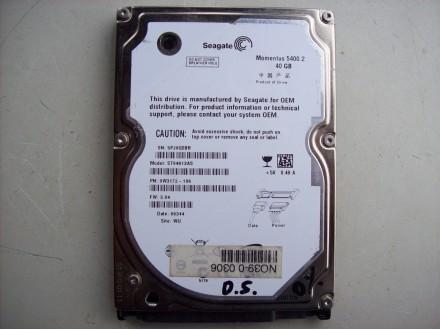 40 Gb Seagate sata 2.5 inca