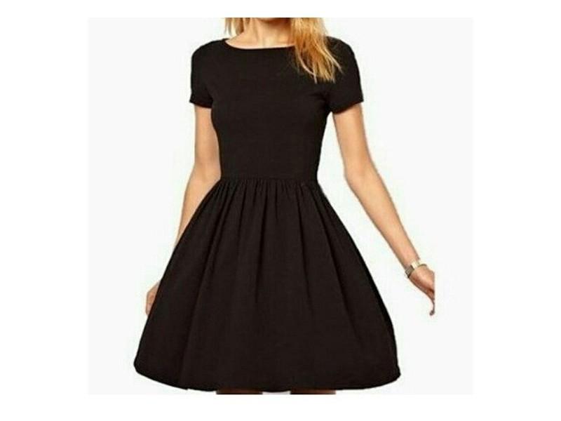 405) Slatka crna haljinica (VISE BOJA)