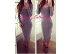 41)  Siva duga haljinica ( u vise boja )
