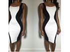 411) Prelepa dvobojna haljina na bretele