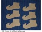 413 Opanak ukras 9,5x6cm, 6 komada, dekupaž repro