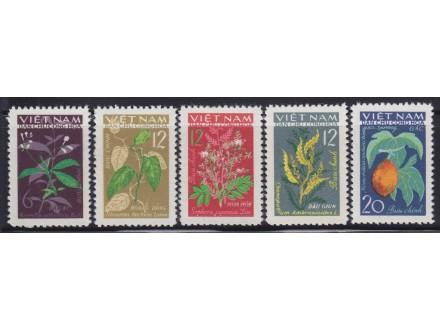 436. Vijetnam, 1963, Flora - Lekovito bilje, čisto (**)