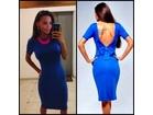 44)  Plava haljinica (ponuda u vise boja)