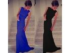 48) Prelepa i elegantna crvena-plava-crna  Sirena kroj