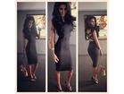 49)  Crna sexy haljina sa trakama ( VISE BOJA )