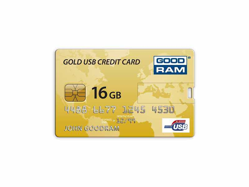 4GB GoodRam Credit Card Gold Retail
