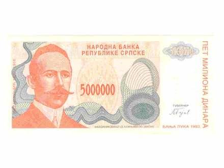 5.000.000.dinara,Republika Srpska,1993,unc.