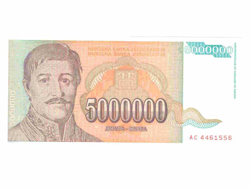 5.000.000.dinara,SRJ,1993,unc.