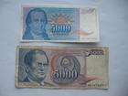 5.000 dinara 1985. i 5.000 dinara 1994. (2 komada)