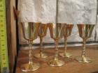 5 čašica, pozlaćenih