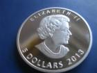 5 dollars Canada 2013 PP/UNC,1 unca, Fine Silver Argent