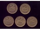 5 x 2 dinara 1938 godina