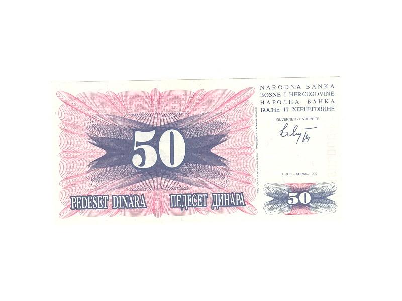 50 dinara BiH,1992,unc.
