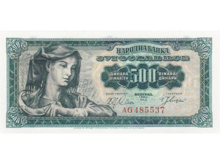 500 Din 1963 UNC !!!