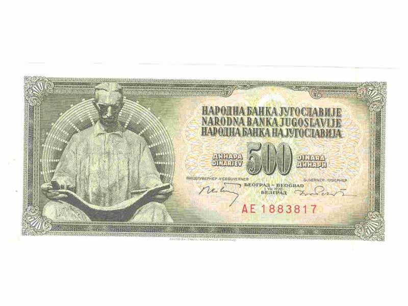 500 dinara  iz 1970,SFRJ,unc.