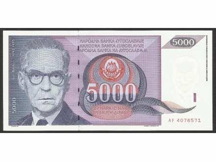 5000 DINARA 1991 UNC