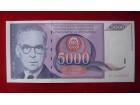 5000 DINARA 1991 - UNC