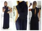 51) Crna haljina sa polu rol kragnicom (VISE BOJA)