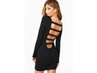 52)  Crna haljina sa ravnim trakama (VISE BOJA)