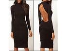 53)  Crna haljina sa otvorenim ledjima (VISE BOJA)