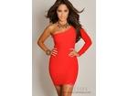 57)  Crvena haljina na jedno rame ( VISE BOJA )