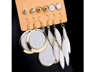 6 pari mindjuša srebrno zlatne boje slanje besplatno