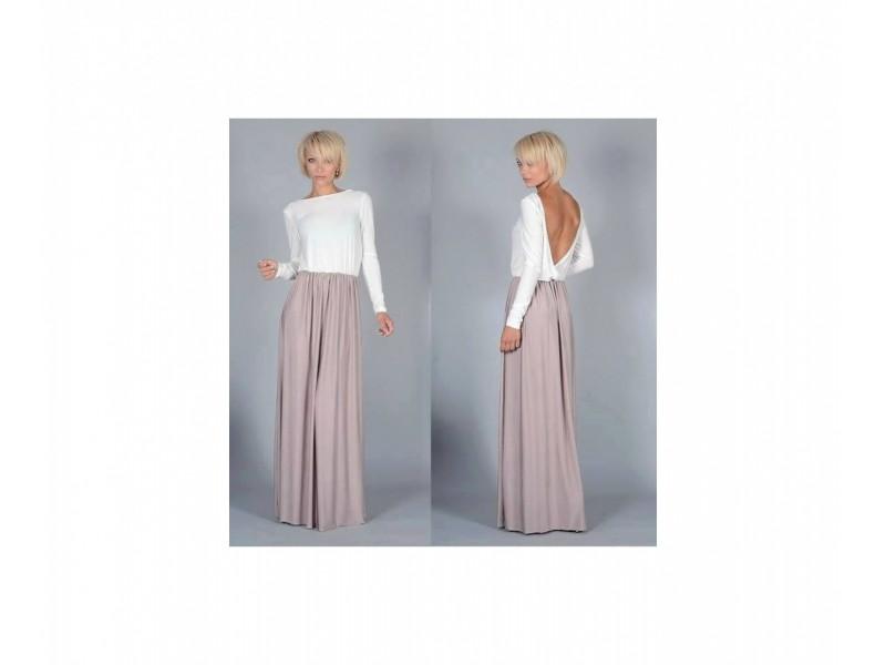 63) Duga letnja  dvobojana haljina