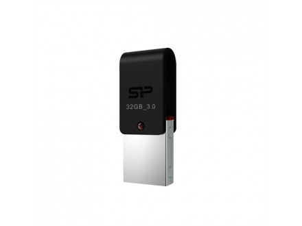 64GB Silicon Power USB3.0/micro-USB OTG Flash Disc Mobile X31 Black
