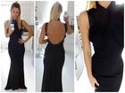 67)     Crna duga elegantna haljina  ( VISE BOJA )