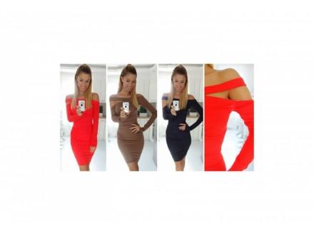 69) Prelepa  pamucna haljina u vise boja
