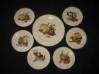 7 Pontesa spankih porcelan tanjira