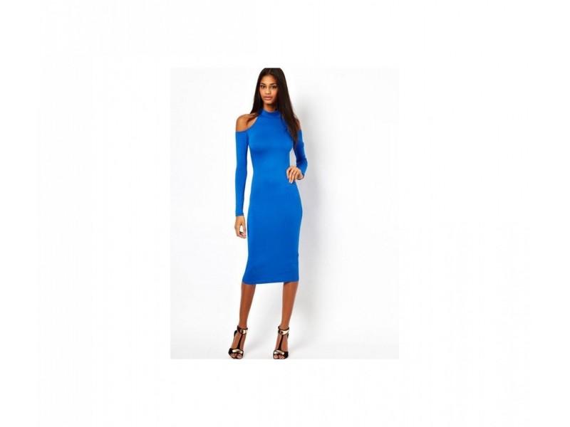 74) Prelepa plava duga haljina